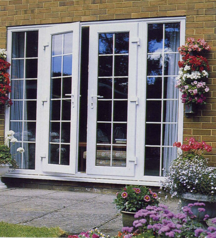 Patio doors for Double door with side windows