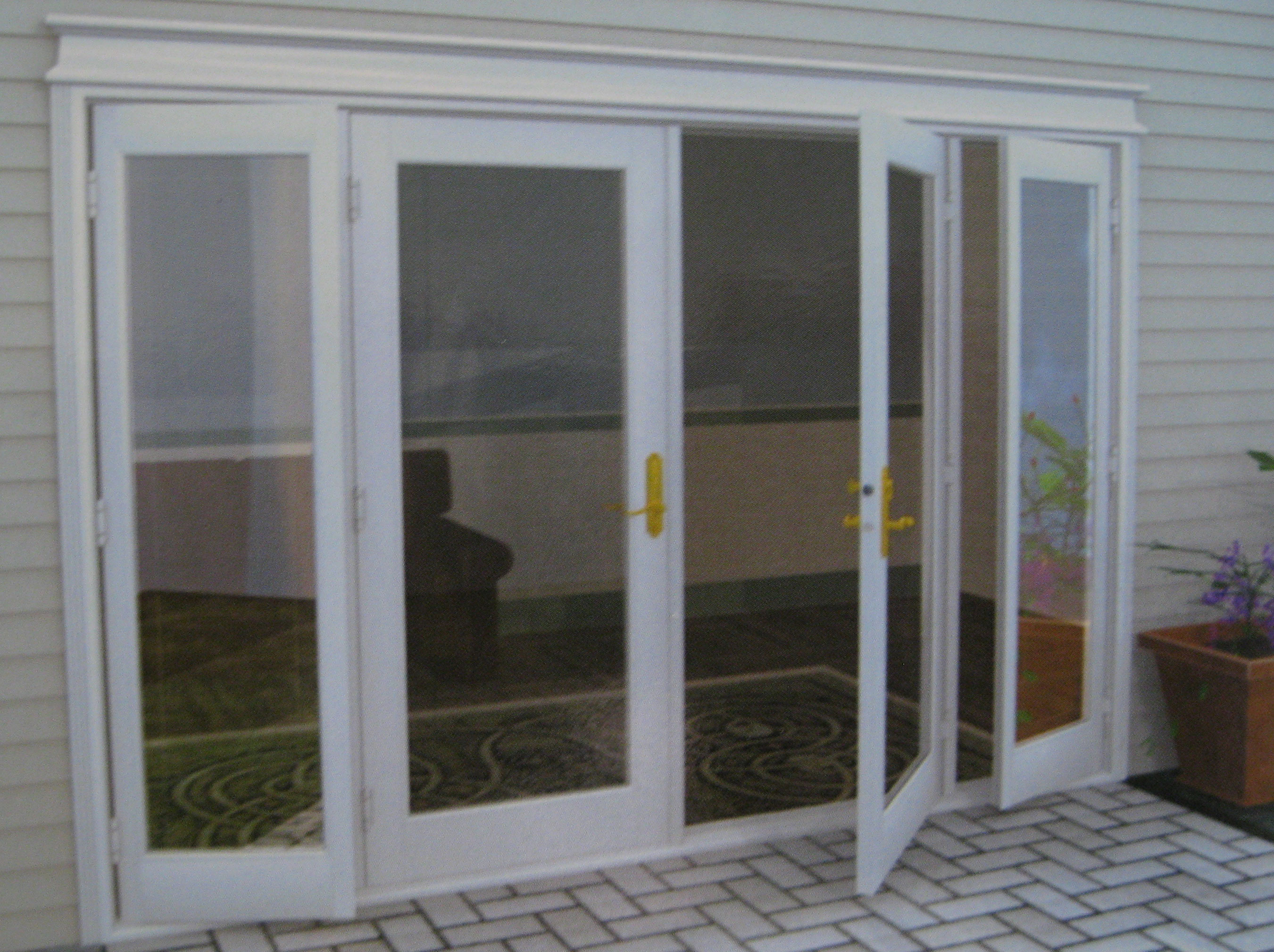 Patio door french for Triple french doors exterior